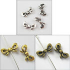 70Pcs Tibetan Silver Gold Bronze Tone Butterfly-Bow Spacer Beads Charms 6x12mm