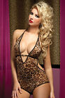 Hear Me Roar Leopard Print Mesh Teddy Sexy Ladies Lingerie 7TilMidnight One Size