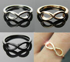 A Love Wish Hope Punk Rock Infinite Infinity Bowknot Charm Finger Ring, Toe Ring
