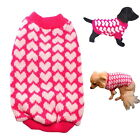 Dog Sweater Hot Pink Hearts XS S M L - Vest Coat Puppy Pet Clothes Jacket Jumper