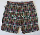 New Polo Ralph Lauren Indian Madras Cotton Plaid Shorts 35 40