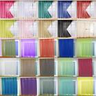 PAIR OF VOILE SLOT TOP / ROD POCKET CURTAIN PANELS - Many Colours & Sizes
