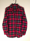 NEW Lauren by Ralph Lauren Lake House Brushed Flannel Plaid Pajama Top 819450