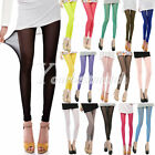 Women's Sexy Candy Colors Mesh Sheer Stretchy Cropped Leggings Pants Wholesale