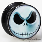 Acryl Ohr Icon Plug mit Bild Comic Joe Piercing Gewinde Schraub Flesh Tunnel