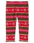 GYMBOREE WINTER CHEER RED FAIR ISLE LEGGINGS 3 6 12 18 24 2T 4T NWT