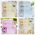 New Branch Cotton Towel Set Fast Drying Travel Camping Sport Bath/Hand Towel 3Ps