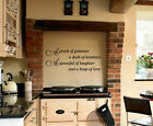 Vinyl Wall Art A pinch of patience A dash of kindness  Kitchen Wall Art Sticker