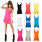 Fashion Lady's Candy Color Sweet Vest Dress Casual Sleeveless Tank Top T-Shirt