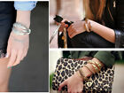 Womens Vintage Metal Talons Claw Clamp Wraparound Cuff Bangle Bracelet