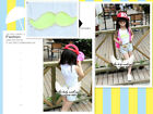 1641 Stretchable Sleeveless Top Ruffle Back Neon Sequin Mustache Pearls Around