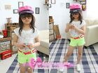 1649 Boutique Short Version Neon Color Cotton Eyelet Lace Top Great To Layer Up