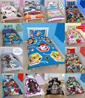 CHARACTERS SINGLE DUVET QUILT COVER SET FOR GIRLS NEW