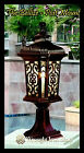Wrought Iron Light Fixture - THE BELLIZE -  176mm x 546mm - Post Mounted