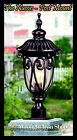 Wrought Iron Light Fixture - THE NUVO -  238mm x 608mm - Post Mounted