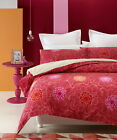CAMILLA Pink Red  - 100% COTTON Quilt Cover Set - SINGLE DOUBLE QUEEN KING