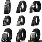 Fashion Mens Belt Black Automatic Buckle Genuine Leather Waist Strap Belts 8888