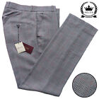 Relco Prince of Wales Check Sta Press Trousers NEW Mod Skin Retro Vtg Stay Prest