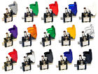 12v Illuminated Led Toggle Switch Aircraft Missile Flip Up Cover Car On/off Spst