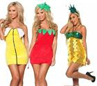 Halloween FANCY FRUIT MINI PARTY DRESS COSTUME BANANA STRAWBERRY PINEAPPLE 8-14