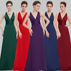 US Long V-neck A-line Bridesmaid Evening Dresses Formal Ball Prom Gowns 09008