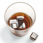 2 4 6 8 Stainless Steel Iced Cubes Rock Neat Drink Whiskey Stone Freezer Gel Box