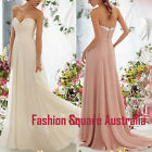 New Formal Evening Ball Bridesmaid Prom Cocktail Dress Chiffon Beaded Sweetheart