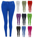 NEW WOMENS LADIES SKINNY FIT COLOURED STRETCH JEANS JEGGINGS SIZE PLUS  8-20
