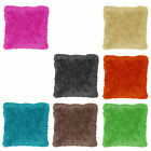 Long Hair Faux Fur Filled Sofa Bed Cushion PINK TAN LIME MOCHA ORANGE Charcoal