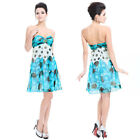 Ever Pretty Strapless Blues Ruffle Print Cocktail Homecoming Party Dresses 03322