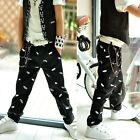1760 Boutique Designer Inspired Funky Black Cotton Pants Trousers Batman Embroid