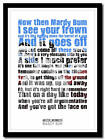 ARCTIC MONKEYS - Mardy Bum - song lyric poster typography art print - 4 sizes