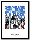 ARCTIC MONKEYS - The View From The Afternoon - typography art print - 4 sizes
