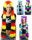 Faux Fur Animal Hood Scarf Spirit Hat Ladies Mens Rave Festival Party Winter Hat