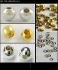 Plain Silver Platinum or Gold Plated Spacer Beads 2mm 3mm 4mm 8mm up to 500 bead