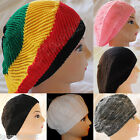 Charcoal Black Unisex Baggy Beanie Knit Crochet Ski Hat Oversized Slouch Cap Hat