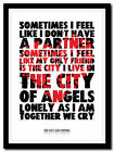 Red Hot Chili Peppers - song lyric poster typography art print in 4 sizes