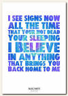 BLOC PARTY - Signs - song lyric poster typography art print - 4 sizes