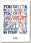 OASIS - Roll With It - song lyric poster typography art print - 4 sizes