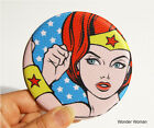 Rollercoaster Pop Art Pocket Compact Mirror_Wonder Woman/Scarlett/Sophie
