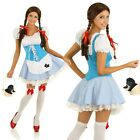 Adult Storybook Dorothy Costume Wizard of Oz Halloween Fancy Dress Party Outfit