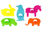"JIP Multi-Color Neon Animal Metal Coat Hook 5"" Long -- Choose Animal!"