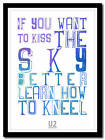 U2 - Mysterious Ways - song lyric poster typography art print - 4 sizes