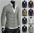 Mens Stylish Slim Fit BASIC Casual Knitwear Cardigan (8 Colors, S~L size)