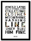 PINK FLOYD - Arnold Layne - song lyric poster ❤ typography art print - 4 sizes