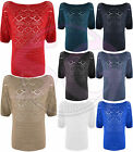 WOMENS LADIES AZTEC DESIGN JUMPER KNITTED SWEATER KNIT TOP T SHIRT JUMPERS