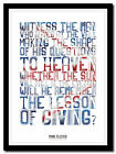PINK FLOYD ❤ song lyric poster in 4 sizes ❤ typography art print