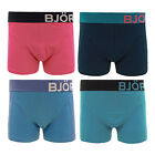 BJORN BORG MENS STRETCH PLAIN 2 TWO PACK SHORTS BOXERS UNDERWEARS TRUNKS