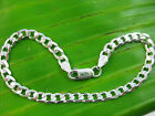 """MADE IN ITALY - 925 sterling silver 5mm WIDE curb Bracelet Anklet 7"""" 8"""" 9"""" 10"""""""