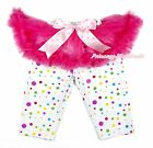 Hot Pink Tutu Rainbow Dot Legging Pale Pink Bow Dress Pettiskirt Pant Tight 1-7Y